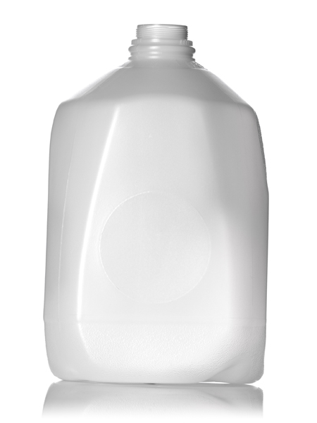 1 Gallon Natural Colored Hdpe Dairy Bottle With 38ss Neck
