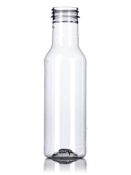 12 Oz Clear Pet Sauce Bottle With 38 400 Neck Finish