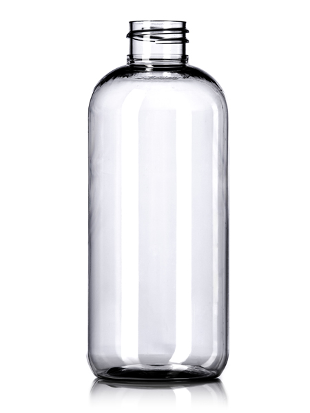 12 Oz Clear Pet Boston Round Bottle With 28 410 Neck
