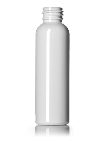 2 Oz White Pet Cosmo Round Bottle With 20 410 Neck Finish